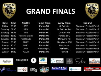 PONDS FC - GRAND FINAL WEEK